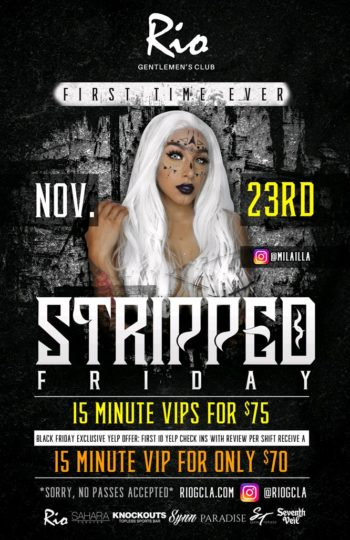 Black Friday Stripped